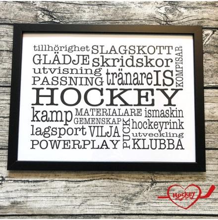 Poster med ram - Hockey