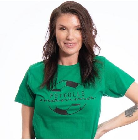 T-shirt - Fotbollsmamma - grön