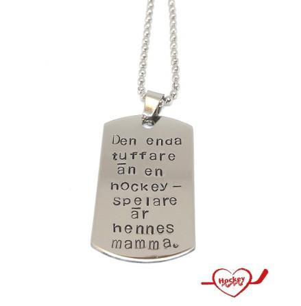 Halsband - Tuffare än en hockeyspelare - Hennes mamma